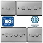 'Bg Brushed Steel Satin Chrome Led Dimmer Switch Nbs81p Nbs82p Nbs83p Nbs84p 2way
