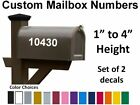 Set Of 2 - Custom Mailbox Numbers Solid Colors Vinyl Decals Stickers House