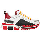 DOLCE&GABBANA MEN'S SHOES LEATHER TRAINERS SNEAKERS NEW SUPER KING WHITE 6F6