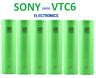6x SONY VTC6 US18650 3000mAh High Drain Flat Top Rechargeable Battery US SHIP