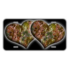 Custom Personalized License Plate With Camouflage Forest Hearts Add Names