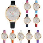 Women Fashion Watches Small Leather Band Analog Quartz Round Wrist Watch Watches image