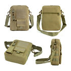 Tactical Small Canvas Messenger Bag Waterproof Casual Pack with Shoulder Strap