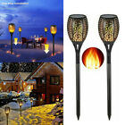 1-4Pack LED Solar Power Torch Light Flickering Flame Garden Waterproof Yard Lamp