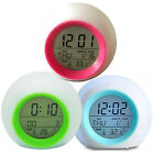 7 Color Changing LED Digital Alarm Clock Snooze Electronic Clock Home Decor Gift