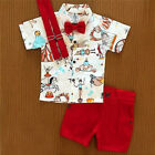 US Toddler Kid Baby Boy T Shirt Short Shorts Pants Outfits Clothes Set Outfit