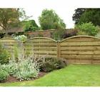 Forest Garden 1.8m X 1.1m Pressure Treated Decorative Europa Domed Fence Panels