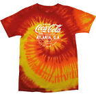 Coca Cola Atlanta GA White Text Men's Tie Dye T-Shirt £19.95  on eBay