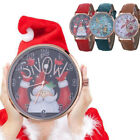 Hot Women Christmas Pattern Quartz Watch Leather Strap Belt Wrist Watch Gift CA image