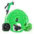 Latex 50 75 100 Ft Green Expanding Flexible Garden Water Hose With Spray Nozzle