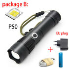 Zoomable XHP50 Tactical led flashlight usb rechargeable flash torch Lamp Lantern