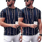 Mens Tops Short Sleeve Striped Plain T Shirts Horse Golf Sports Luxury Holiday