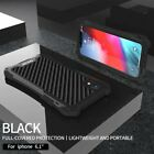 Shockproof Carbon Fiber Armor Cover Case For iPhone XR XS Max 7 8 Plus 6s 6 SE