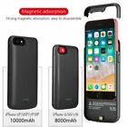 8000mAh / 10000mAh Magnetic Charger Case Battery Cover For iPhone 6 6S 7 8 Plus
