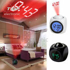 Digital Projection Alarm Clock With LCD Display Voice Talking LED Projector