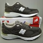 New Balance 993 Made in USA Suede Running Shoes Mens Size 2E Wide Green White