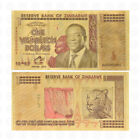Color Gold Zimbabwe One Vigintillion Dollars Banknote Collection Business Gift