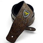"""Embossing synthetic Leather Guitar Strap Classic Electric Bass 160cm 2.5"""""""