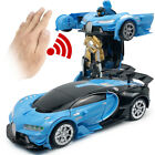 Kids Toy Gift 1:12 LED Transforming RC Robot Car Remote Control Car w/ Sounds US