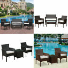 3/4pcs Rattan Garden Furniture Set Patio Outdoor Table Chairs Sofa Conservatory