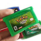 Pokemon Emerald Ruby Sapphire Fire Red Leaf Green GBA Game USA REPRODUCTION unit