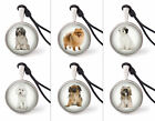Dog Various Breeds Necklace Pendants Pewter Silver Jewelry Jnp