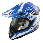 Chaos Kids Motocross Crash Helmet Blue
