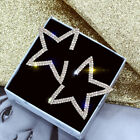 Fashion Star 925 Silver,Gold,Rose Gold Stud Earrings Women Jewelry A Pair/set image
