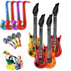 Inflatable Music Instruments Guitar/Microphone/SAXOPHONE COLOURFUL BLOW UP LOT
