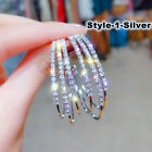 925 Silver,Gold,Rose Gold Hoop Earrings for Women Fashion Jewelry A Pair/set
