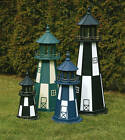 6-foot Poly Lumber Outdoor Lighthouse with LED Solar Light made by PA Amish