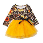 Casual Toddler Baby Girls Party Princess Dress Sunflower Tutu Dresses Clothes US