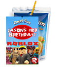 ROBLOX CAPRI SUN LABELS BIRTHDAY PARTY FAVORS Suns SUPPLIES JUICE BOX STICKERS