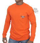 Harley-Davidson Mens  Bar & Shield Eagle Pocket Orange Long Sleeve T-Shirt image