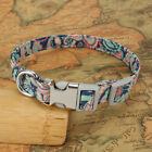 Adjustable Personalized Dog Collar Floral Custom Small Medium Large Dogs Puppy