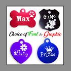 Custom Engraved Double Sided Pet Name ID Tags for Dog  Cat / 9 Colors, LOOK