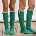 US Women Girls Winter Cable Knitted Long Socks Over Knee Thigh High Stockings