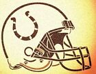 INDIANAPOLIS COLTS HELMET STENCIL MYLAR SPORT FOOTBALL MANCAVE STENCILS $7.18 USD on eBay