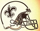NEW ORLEANS SAINTS HELMET STENCIL MYLAR SPORT FOOTBALL MANCAVE STENCILS $9.87 USD on eBay
