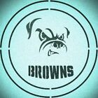 DOUBLE CIRLCE CLEVELAND BROWNS with TEAM NAME STENCIL SPORT FOOTBALL STENCILS $13.07 USD on eBay