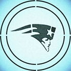 DOUBLE CIRLCE NEW ENGLAND PATRIOTS STENCIL SPORT FOOTBALL STENCILS $14.74 USD on eBay