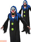 Mens Evil Grim Reaper Killer Clown Elongated Face Costumes Halloween Fancy Dress