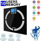 TANBURO LCD Digital Bathroom Body Weight Scale Tempered Glass 400lb + Batteries