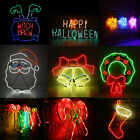 Neon Sign Light LED Wall Light Visual Bar Lamp Home Room Xmas Halloween Decor SP