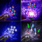 2 Themes Moving Laser Snow Projector Light LED Outdoor Christmas Shower Snowfall