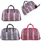 Ladies Snakeskin Trolley Holdall Hand Luggage Animal Weekend Bag Holiday M101-15