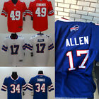DIY Customized Men's Buffalo Bills NO.17/34/49 Jersey Blue/Red/White M-3XL $52.99 USD on eBay