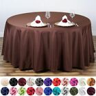 "10 pcs 108"" Round Polyester Tablecloths Tabletop Wedding Wholesale Decorations"