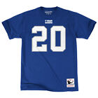 Detroit Lions Barry Sanders Mitchell & Ness Blue Name And Number Jersey T-Shirt $35.99 USD on eBay