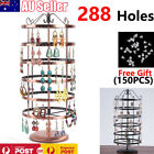 288 Holes Earring Jewelry Necklace Display Rack Metal Stand Holder Organizer Au